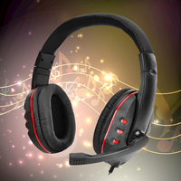 Orignal Headphones Wired Headphones Gaming Headset Headphones W Microphone Voice Control For PS4 Black Red NI5L
