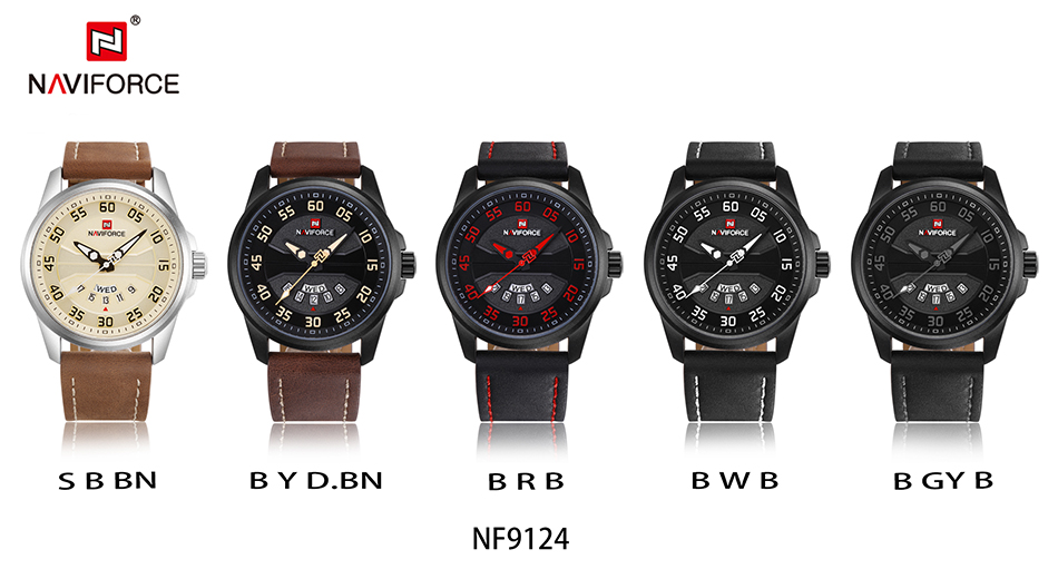 HTB1lq2jcfNNTKJjSspcq6z4KVXaj NEW Luxury Brand NAVIFORCE Men Fashion Sport Watches Men's Quartz Clock Man Leather Army Military Wrist Watch relogio masculino