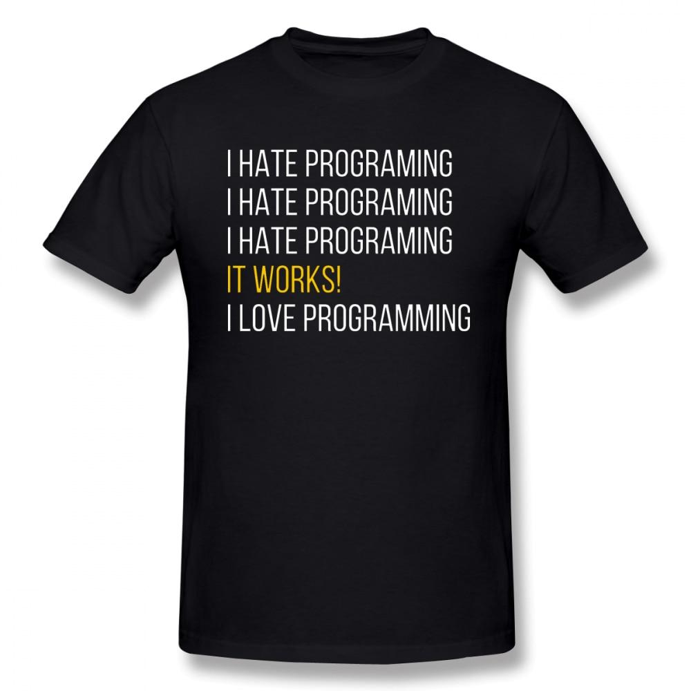 Программист Мужская футболка Популярные Swag большой Размеры хлопковая футболка с коротким рукавом Одежда для мужчин
