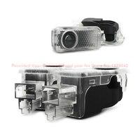 Ücretsiz Kargo araba-styling Lazer Logo Araba Kapı LED Hoşgeldiniz Işıklar Kapı Desen Audi A6L Için ışık Q5 A4L A7 A5 Q3 Q7 TT S5