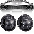 "5.75"" Round H5006 H4001 High Power 40W Led Projectors Drl 6000K White Headlights (2pcs/pair)"