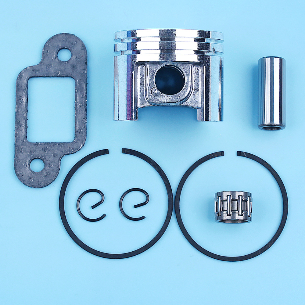 38mm Piston Ring Bearing 10mm Pin Muffler Gasket Kit For STIHL 018 MS180 MS 180 Chainsaw Replace 1130 030 2004