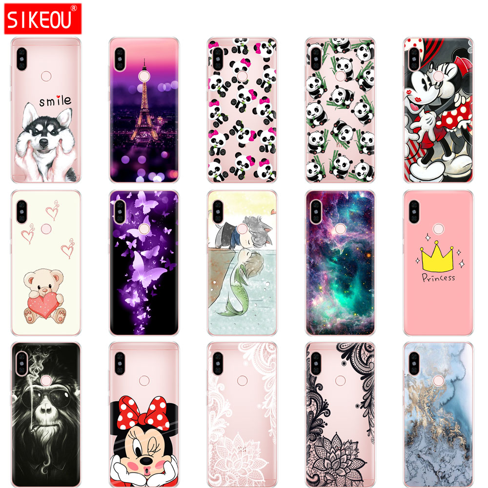 silicon case For 5.99 inch Xiaomi Redmi Note 5 global Case back Cover redmi note 5 PRO Snapdragon 636 version hongmi note 5 case
