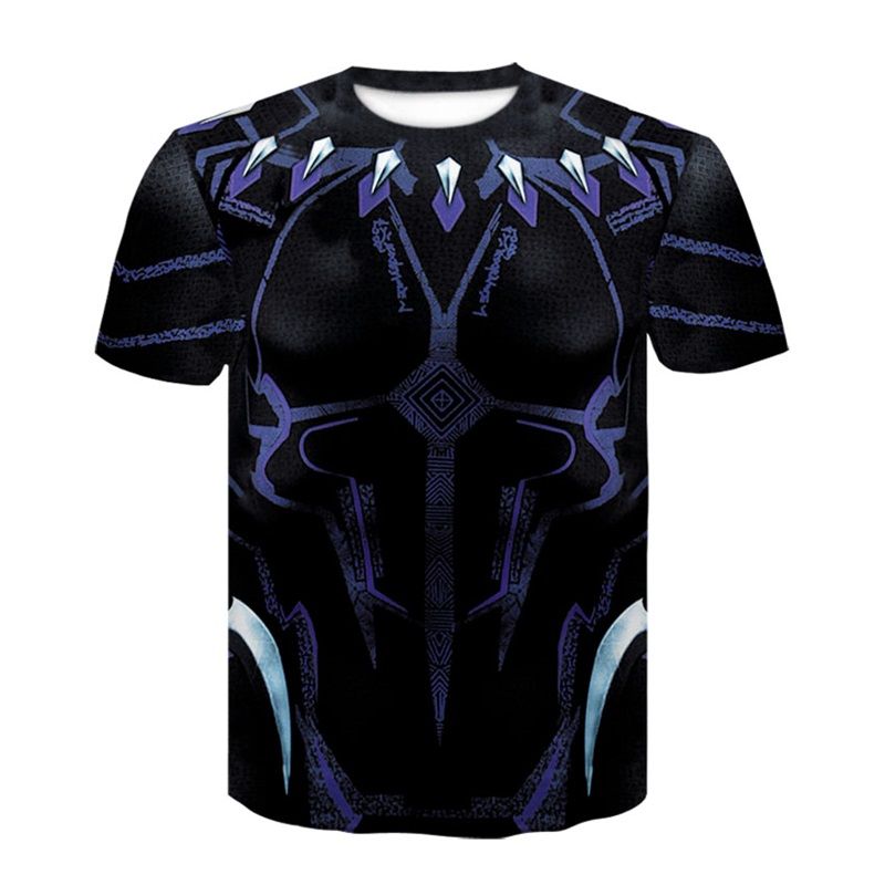 Short Sleeve Black Panther Compression Shirts 3D Printed T shirts Men 2018 Summer NEW 3D T-shirt Tops For Male Fitness Clothing