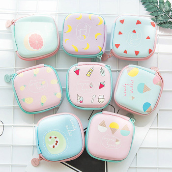 New Cute Candy Color Portable Mini Square Storage Case Bag for Earphone Headphone SD TF Cards Sundries Storage Bag BS