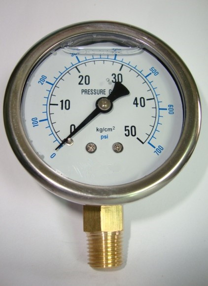 NEW 2.5 60mm brass movement Stainless steel shell Shock - proof oil - filled pressure gauge