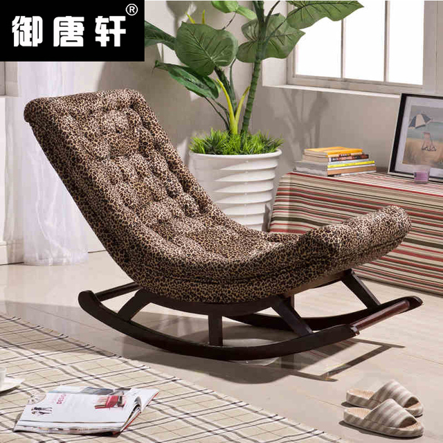 Hy Lazy Small Sofa Chair Single Rocking Terrace Wood Recliner Leisure Continental