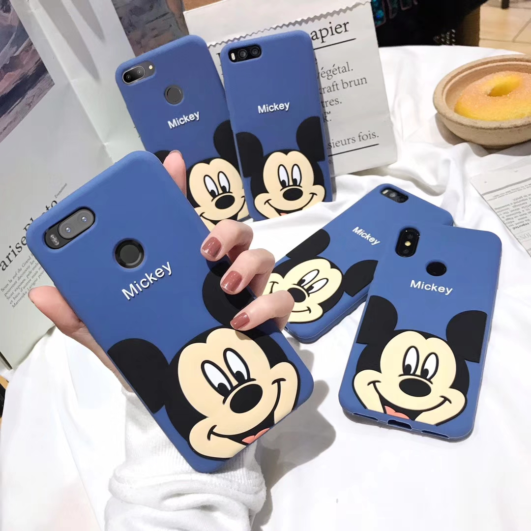 3D Cartoon <font><b>Mickey</b></font> Phone Case for <font><b>Xiaomi</b></font> Mi6 Mi8 Lite SE <font><b>Mi</b></font> 5X 6X <font><b>A1</b></font> A2 Note 3 8 lite 8 SE Soft Silicone Cover Coque <font><b>Fundas</b></font> image