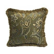 Lujosa funda de cojín para sofá de diseño de flor clásica americana en 3 colores, funda de almohada cuadrada decorativa tejida de 45x45 cm