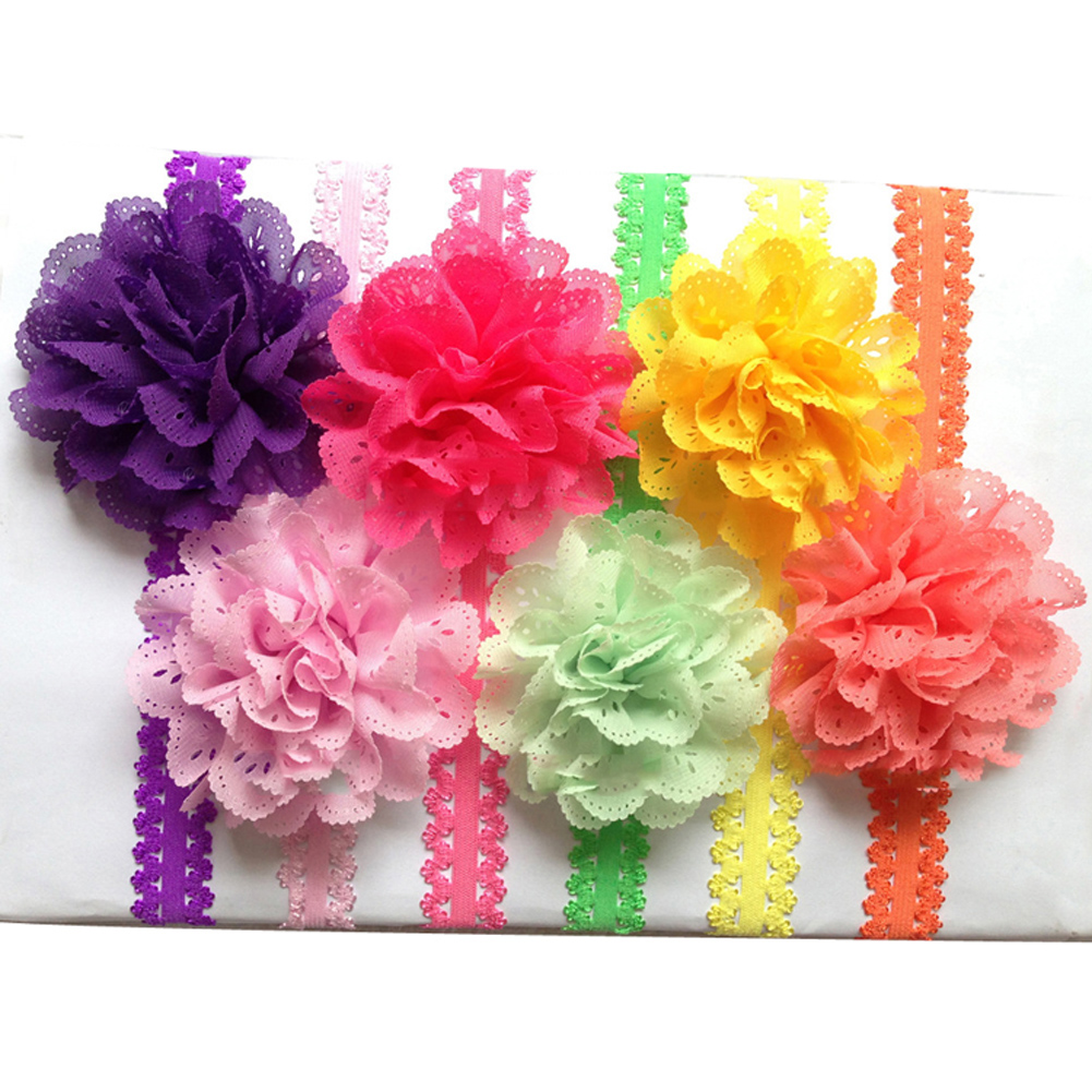 1Pc Girl Lace Flower Hair Band Headband Hairband Hair Accessories 12 Colors Drop Shipping