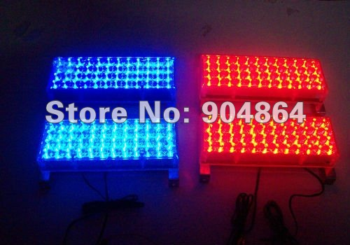 Car Yellow White Blue Amber Red  4x48 LED Strobe Flash Warning EMS Police Light Flashing Firemen Lights 4*48 48LED Automatic