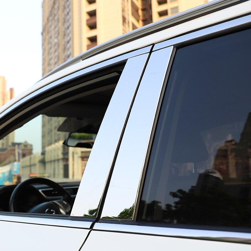 Für Nissan QASHQAI J11 Edelstahl-fenster-chrom-säule Post Cover Zierleiste schmücken Accent Edelstahl Styling Autozubehör 10 stücke