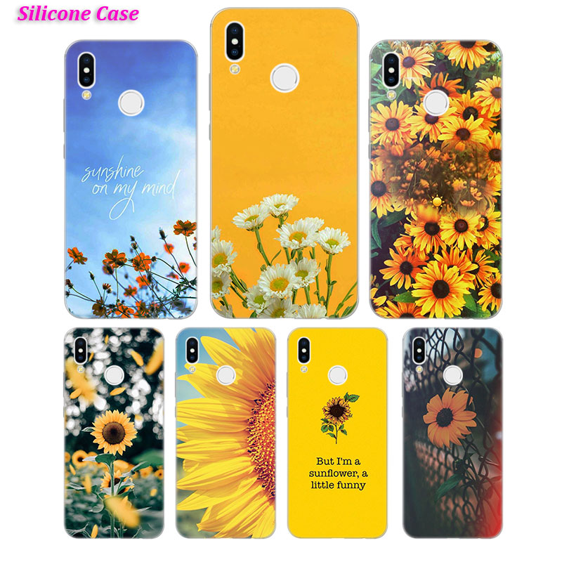 Silicone Case Sunfowers fantasy show for Huawei Nova 3 4 Honor 7C 7A 8 8X 9 10 Y5 Y6 Y7 Y9 V20 Lite Pro 2019 2018 Cover image