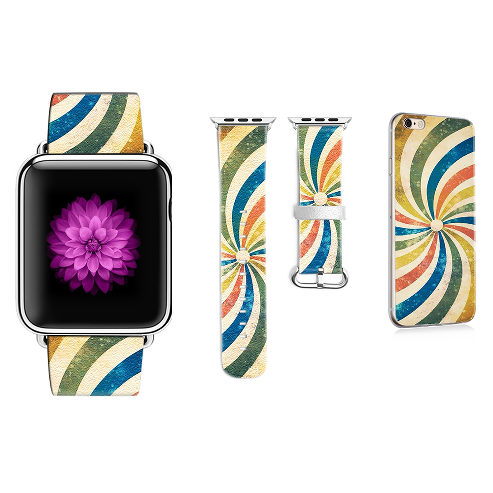 Fashionable Style Wristbands for Apple Watch 3 Band Leather Strap for Iwatch 38mm 42mm Band Bracelet Bele Gift for IPhone Case fashionable tribal pattern plastic back case for iphone 5 multicolored