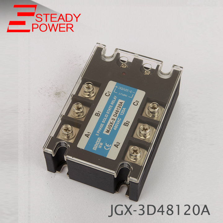 high quality DC Control AC MJGX-3D48120A 120A actually 3-32VDC TO 24-380VAC Three phase solid state relay