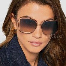 Oversized New Fashion Square Sunglasses For Women Gradient L