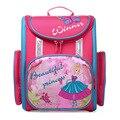 Delune ortopédica mochila mochilas escolares 2017 niños oso lindo hermosa princesa bolsos de escuela para niñas de la escuela primaria mochilas