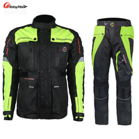 Riding Tribe Men S Motorcycle Off Road Racing Set Windproof Waterproof Motorcross Touring Travel Jacket Pants