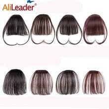 Alileader naturalne białko przypinana grzywka klip w Bangs jeden kawałek Fringe grzywka przedłużanie włosów 1B #33 # włosy klip na z przodu