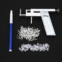 Профессиональный безопасный стальной пистолет для пирсинга носа уха пупка 72 шт. набор инструментов шпильки набор с прочной коробкой