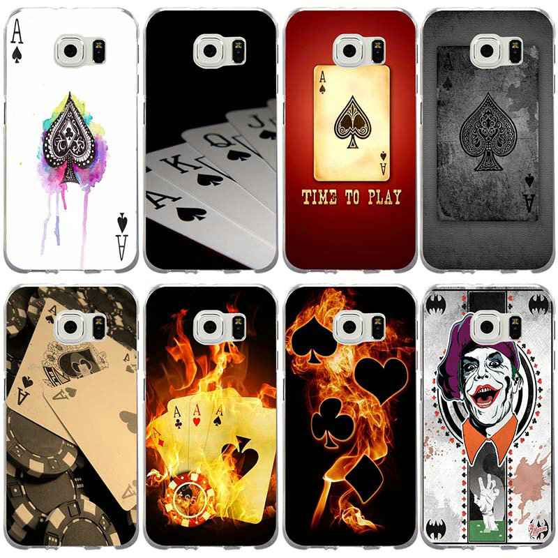 Mobile Phone Cases for Samsung Galaxy Note 3 4 5 8 S3 S4 S5 Mini S6 S7 S8 S9 S10 Lite Edge Plus Poker Fashion Original Painted image