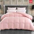 100% White Down Quilt Duvet Goose Comforter Brands edredon couette duvet d'oie douillette lit queen soft pink Blanket 220*240cm