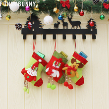 FUNNYBUNNY Christmas Candy Bag Stocking Santa Claus Sock Gift Bauble Tree Ornaments Decoration