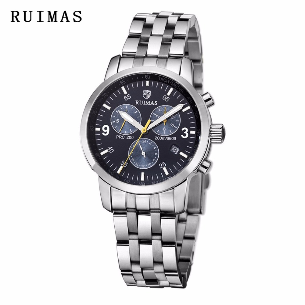 RUIMAS Luxury Brand Men's Famous Dress Watch Classic Business Wristwatch Relogio Masculino Gentle Popular Clock Erkek Kol Saati relogio masculino men business watch leather wristwatch rose gold quartz watches mens 2018 ruimas classic clock erkek kol saati