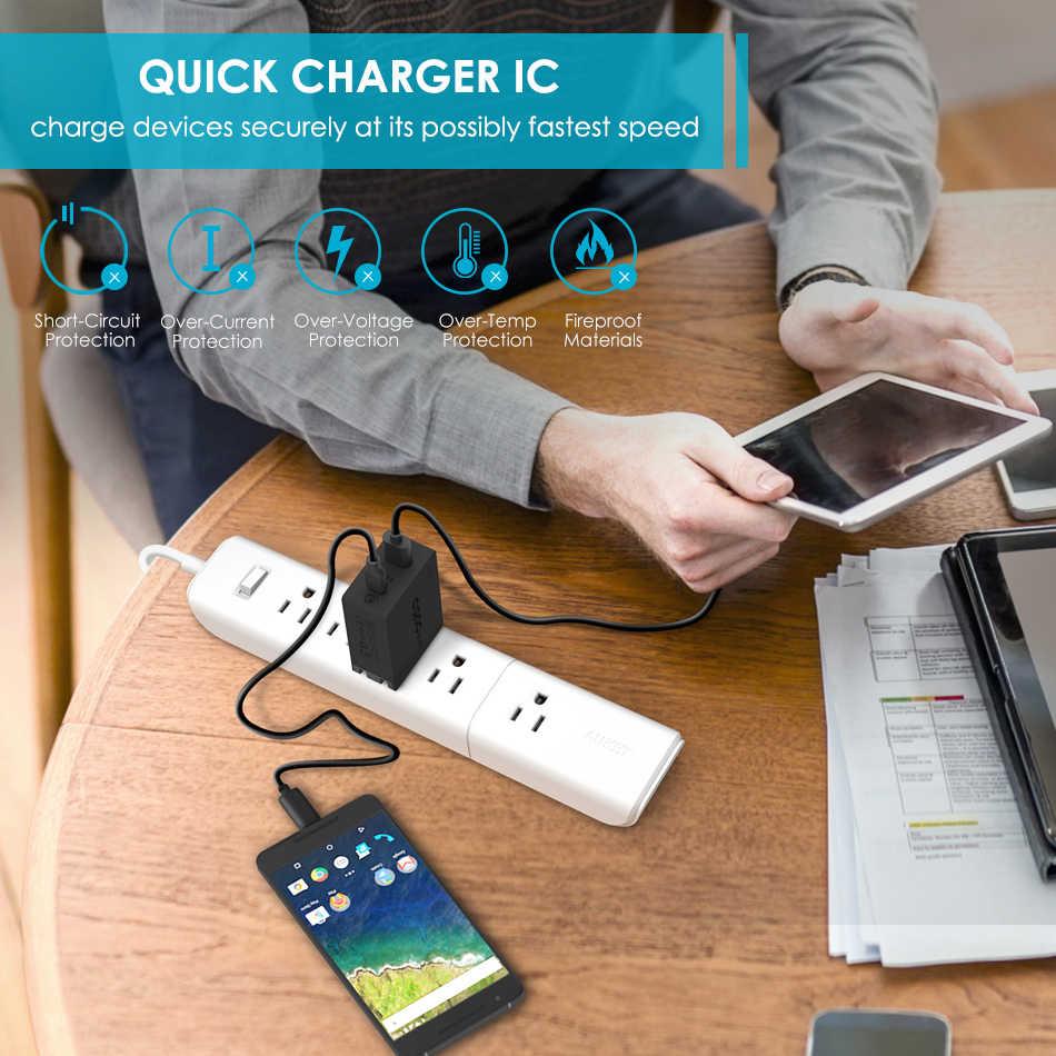 USB-C + cargador CRDC 5 V/3A tipo C carga rápida 3,0 cargador de teléfono móvil adaptador de pared USB 2 pulgadas -1 Tipo C + cargador inteligente USB