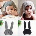 Delicate snapback cap hat autumn Unisex Baby  Kids Boy Girl Knitted Crochet Rabbit Ear Beanie Winter Warm Hat Cap nor160819