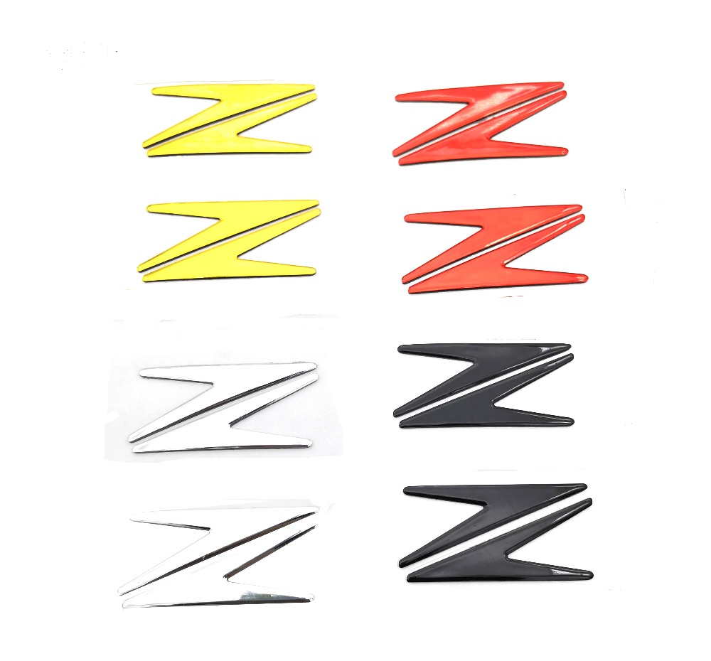 2pcs Z Style Motorcycle Sticker Decals 3D Motorbike Fuel Tank Emblem Badge For Kawasaki Z300 Z750 Z800 Z900 Z1000 ZZR1400