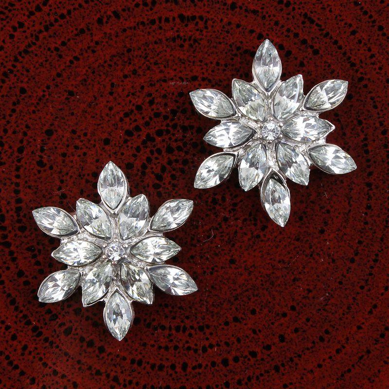 10x Couronne Cristal Boutons Strass Flatbacks Embellissements Craft Supplies