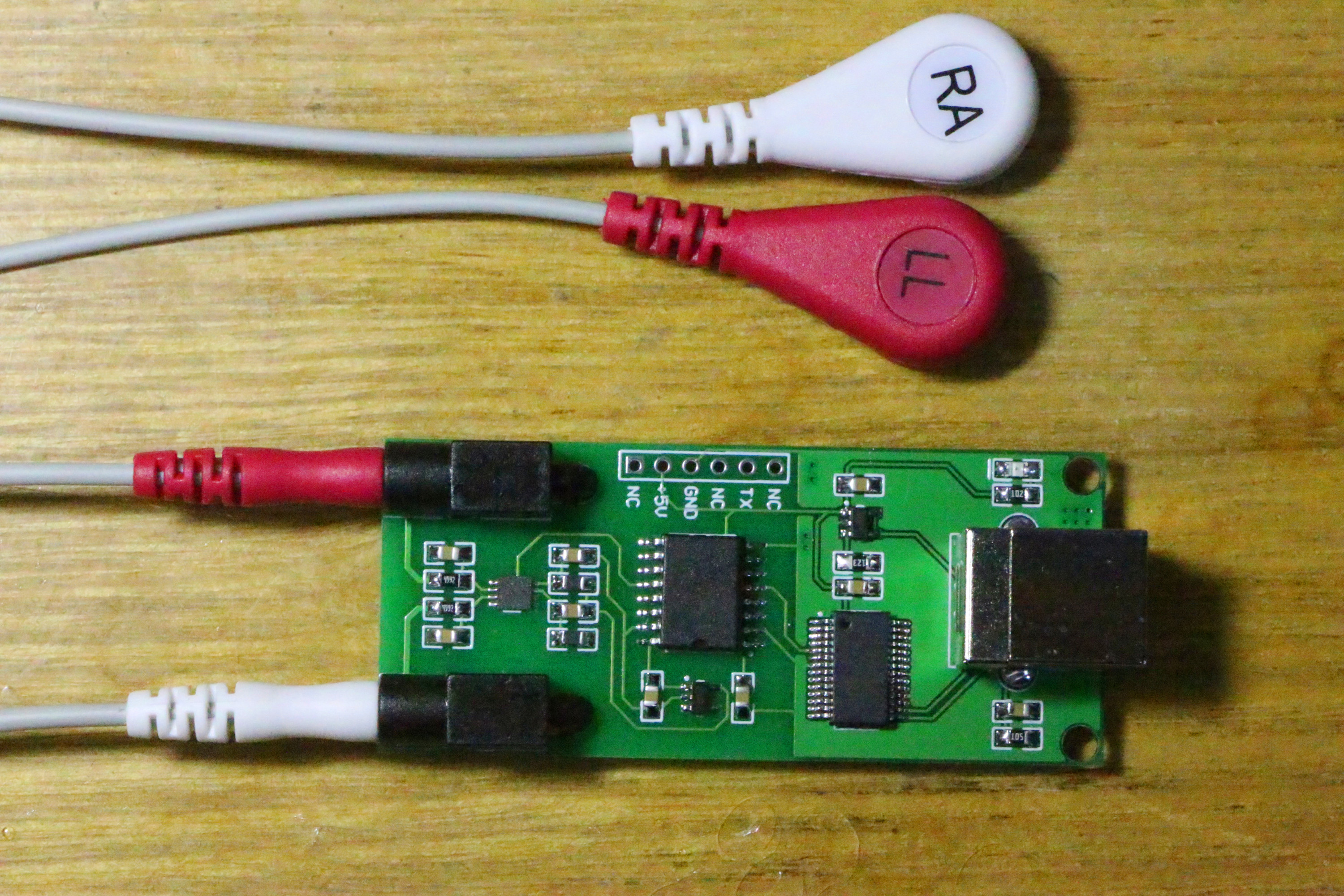 USB ECG acquisition module, BMD101 module, ECG measurement board, heart rate acquisition module, video