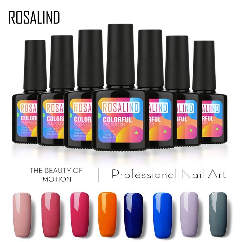ROSALIND 10ML Popular Color Series UV LED Soak off Gel Nail Polish ...