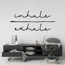 Inhale exhalation wall art sticker Spirit quote detachable vinyl decal bedroom living room home decor art mural wallpaper 2WS39
