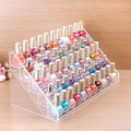 HIGH Clear Acrylic Beauty Makeup Nail Polish Storage Organizer Rack Display Stand Holder 65 Bottles Drop Shipping
