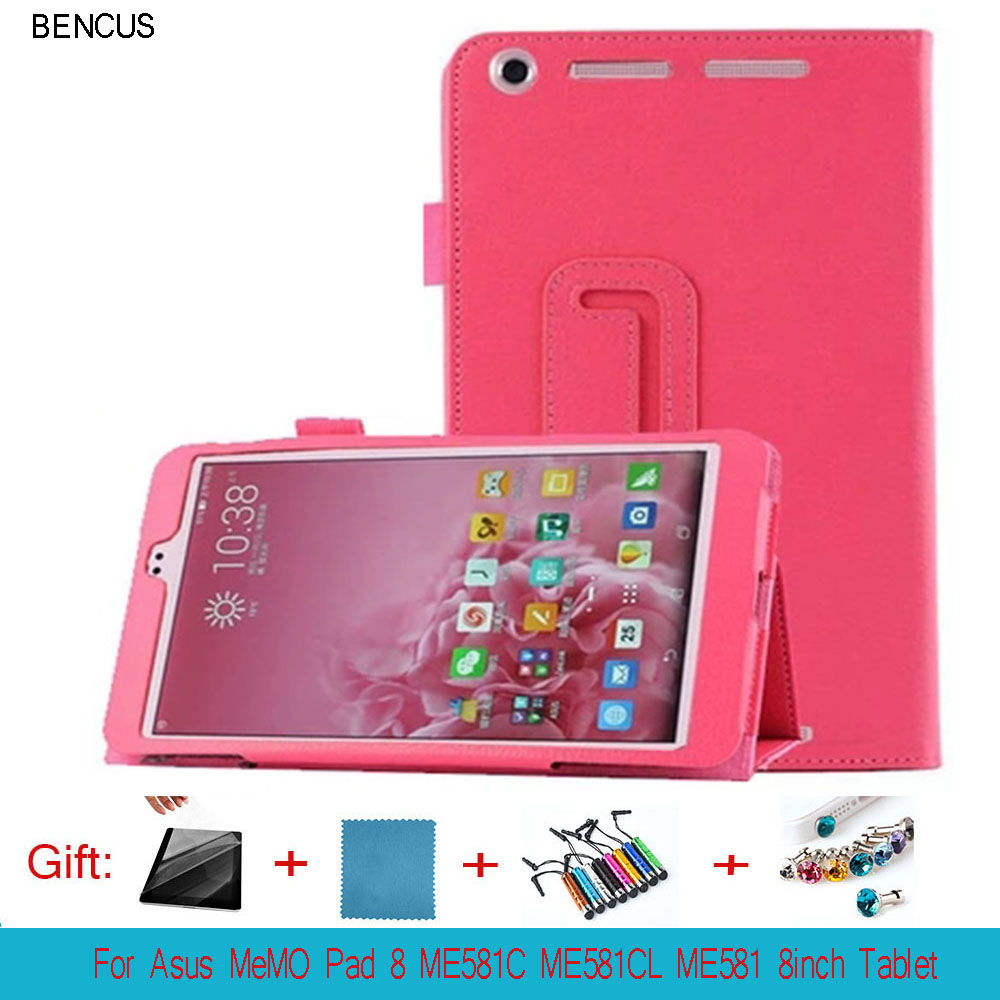 BENCUS High quality ! Pu Leather Stand Tablet Cover Case For Asus MeMO Pad 8 ME581C ME581CL ME581 8inch Tablet Cover