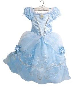 Image 1 - Summer Girls Dress Costume Kids Belle Sofia Sleeping Beauty Princess Dress Children Halloween Party Dress Up