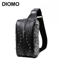DIOMO Cool 3D Men Sling Bags High Quality Male Chest Bag Small shoulder Travel Bags Pack
