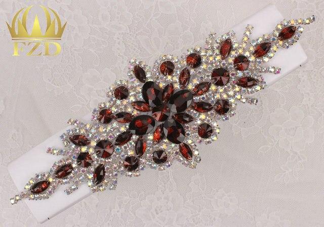 (30pieces) Wholesale Hotfix AB Crystals Tan Color Rhinestone Sequin Applique  for Garment Dresses Headband 7220e623fee9