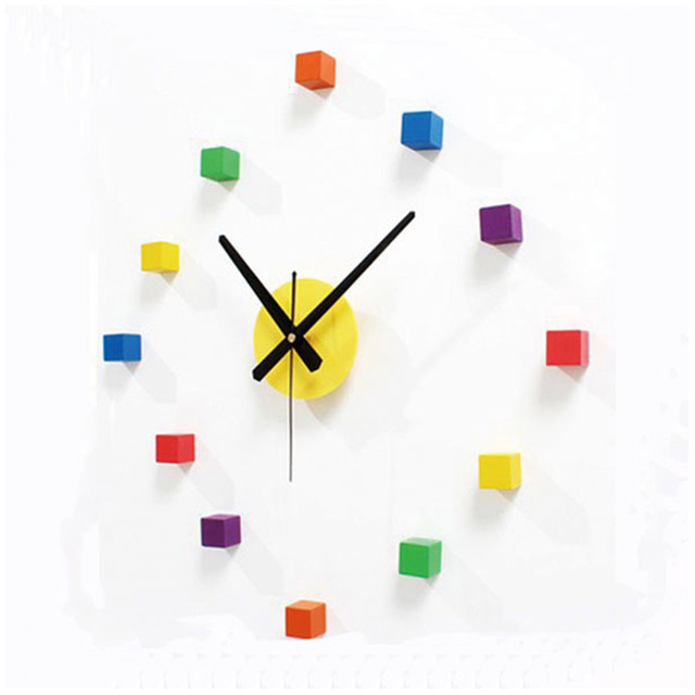 2017 New Arrival Colorful Wall Clock Creative DIY Wall Sticker ...