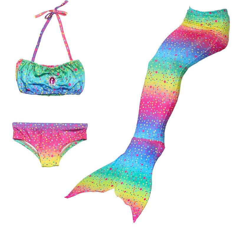 2019 New Kids mermaid tail Swimsuit Girl Bikini Swimsuit little Mermaid Cosplay costume for Girls cos swim Party Holiday