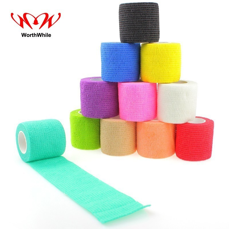 WorthWhile Safety & Survival Self Adhesive Elastic Bandage Non-woven Fabric Outdoor Travel Medical Emergency Kit SOS 5*450cm