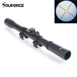 4X20 Air Rifle Telescópicos Sights Âmbito Sniper Escopos de Caça Riflescope Sniper Scope Riflescopes Caça Montagens para Armas de Airsoft