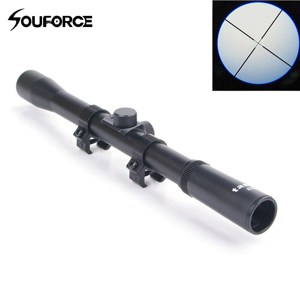 4X20 hava tüfek teleskopik Sniper kapsam manzaraları avcılık kapsamları tüfek keskin nişancı kapsamı Riflescopes avcılık bağlar Airsoft Guns