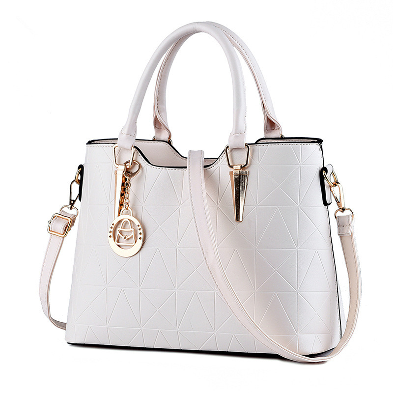 Fashion Elegant PU Women Handbag Tote Casual Beige Office Lady Shoulder Bag Crossboday Messenger