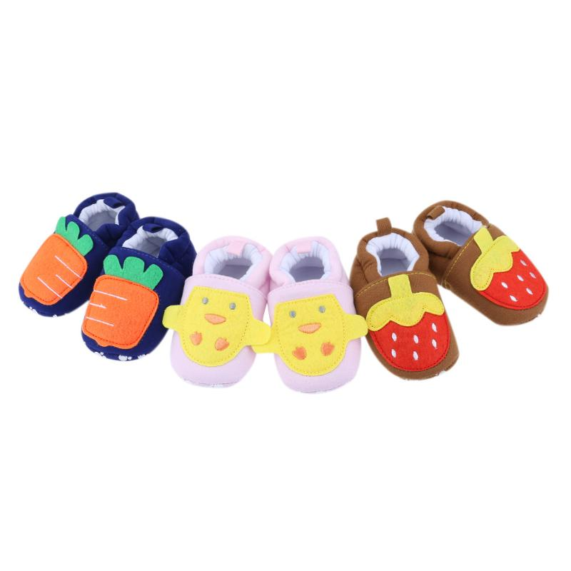 Baby Cotton Shoes Infant Cartoon Cute Soft Sole Shoes First Walkers Infant Toddler Baby Moccasins Baby ShoesCotton Fabric