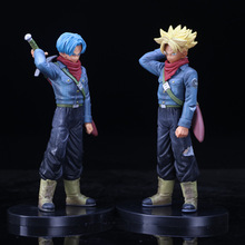 Japanese Anime Dragon Ball Z DBZ DXF Trunks Super Saiyan Black Goku Figure Vol. 2 Collectible Model цены онлайн