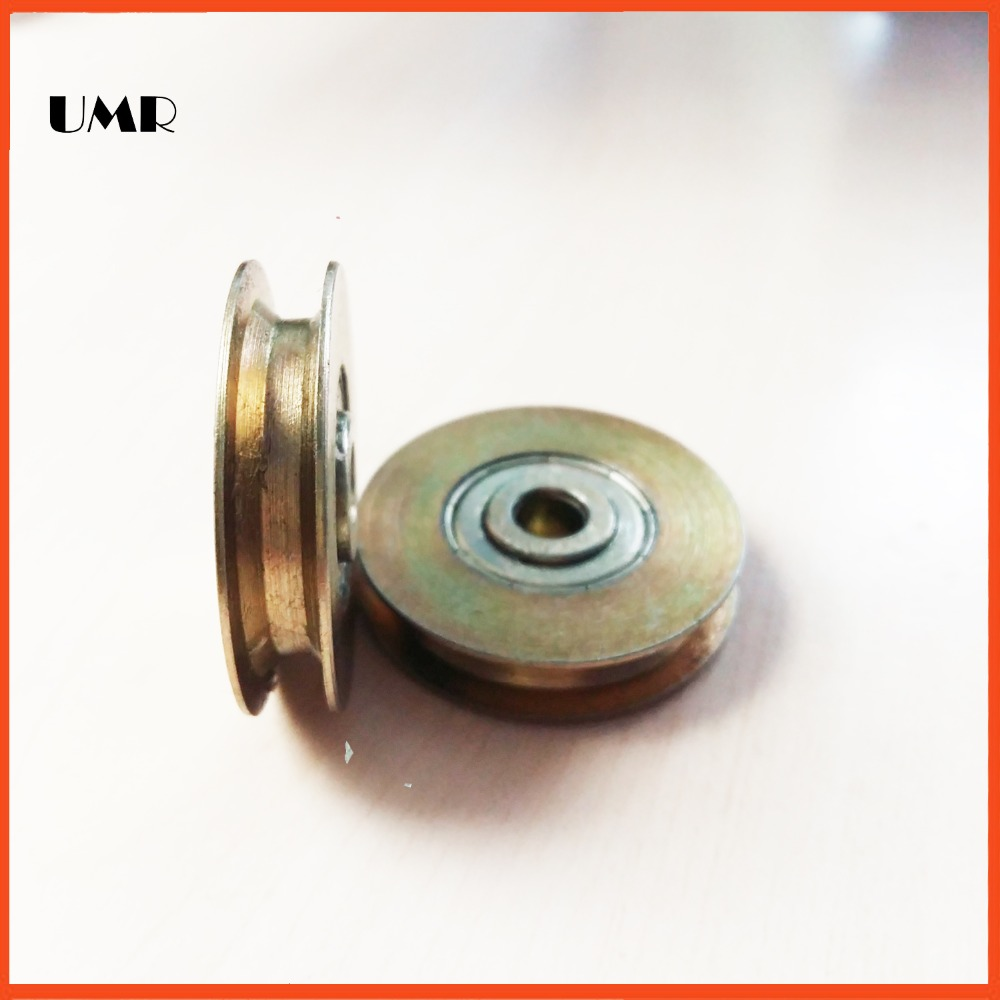 UMR Gcr15 steel TU0635 6.1*35*7*8.2 bearings Z5 U/H type Wire rope pulley bearings chrome oxide plated steel wire guide pulley for wire industry