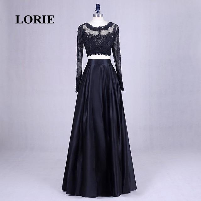 LORIE Zweiteiler Prom Kleid für Graduation Langarm Spitze ...